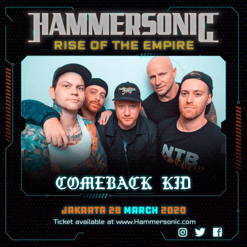 Comeback Kid Line Up