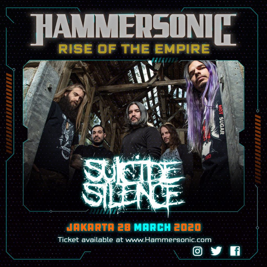 Line Up Hammersonic - Suicide Silence